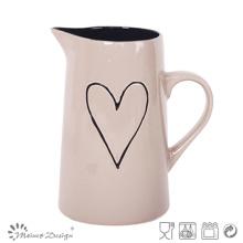 1 jarra de cerámica del diseño del corazón de la litera Alta calidad vendedora caliente