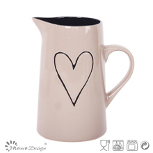 1 Litter Ceramic Heart Design Pitcher Vente Chaude Haute Qualité