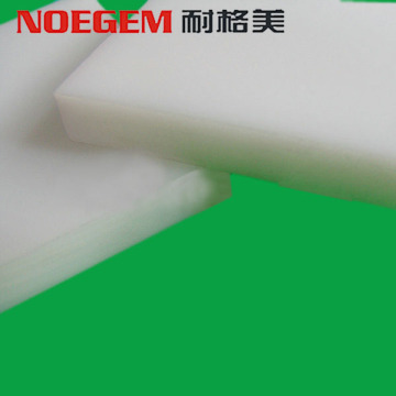 Extruded white plastic HDPE sheet