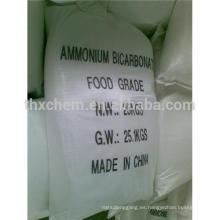 Grado alimenticio de bicarbonato de amonio como Agentes de Levantamiento