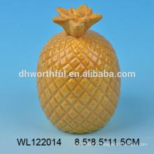 Mejor venta de contenedores de cerámica en forma de piña