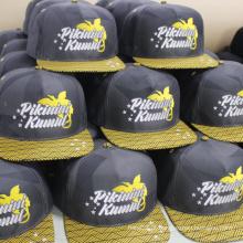 Bordado logotipo moda flat brim 5 painel snapback cap