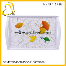 """14"""" 15"""" 16"""" 18"""" inch melamine serving tray sets with handle"""