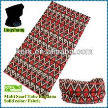 LSB05 Ningbo Lingshang 100% polyester baisc size is 24*48cm neck tube christmas day multifunctional headwear