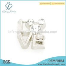 New arrival love letter charm,floating locket silver charm