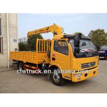 Dongfeng DLK truck mounted crane,4T XCMG crane