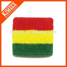 Terry cotton cheap custom wholesale flag wristband