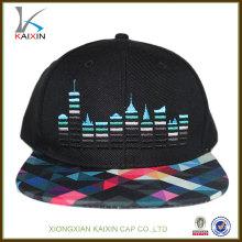 оптовая рекламные мода на заказ дизайн плоских краев пластиковой застежкой свой собственный импорт Логос вышивки шляпы