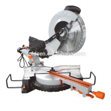 Neueste 1900w 15A 305mm 12in Slide Compound Gehrungssäge Aluminium Schneiden Elektrische industrielle Gehrungssäge