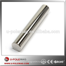 High Quality N42 Neodymium Bar Magnet Cylinder with Poles on Sides