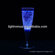 Romantic luminous Liquid active LED Champagne Glass