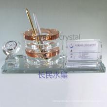 товары для офиса, кристаллический держатель ручки с держателя карты с часами