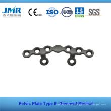 Metal Trauma Óssea Implante Ortopédico Tipo II Placa Pélvica