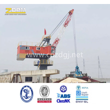 Fixed Dock Crane Luffing with Single Jib