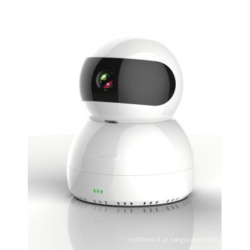 Pan-Tilt 1080P Câmera de rede IP sem rede de vigilância sem fio rotativa, CE / FCC, totalmente certificada