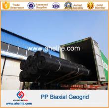 Material de construcción de carreteras Geomalla biaxial de polipropileno