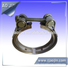 Hydraulic exhaust V band hose clamps