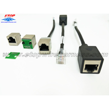 shielded RJ45 8P8C adapter cáp mô-đun