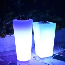 Outdoor LED luminous flower pot /decorative LED flower planter vase lights