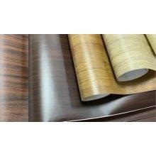 Vinyle en bois de film mat de grain de bois de PVC