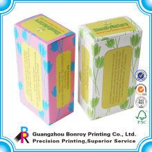 El logotipo personalizado imprimió el empaquetado blanco colorido de la caja del té de papel