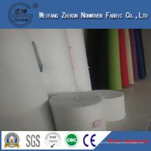 Tela no tejida hecha girar del enlace del polipropileno blanco de bolsos (zhikun China hotsales)