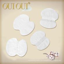 Limpe almofadas de suor Underarm personalizadas axilas descartáveis do algodão