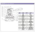 ESP neumática 4HV, 4HVL series 4 / 2,4 / 3 vías Válvulas de palanca manual