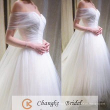 Real Photo Wedding Dress Sweetheart Pleats Ivory Full Ball Gown Bridal Gown 2016