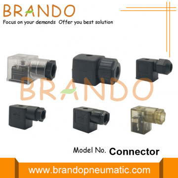 DIN 43650 Magneetventiel Coil Connector Met LED