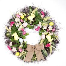 2016 vente en gros décor de panier de pâques fleur artificielle fleur de pâques