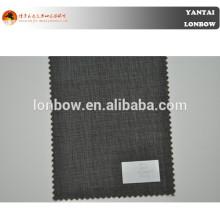 Tecido de lã pura micro terno de mens terno de verificação