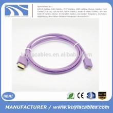 Kuyia Brand Hot sell beautiful 1.4v Micro HDMI à HDMI Câble mâle à mâle