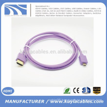 Kuyia Brand Hot sell beautiful 1.4v Micro HDMI TO HDMI Male to Male Cable
