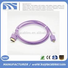 Kuyia Brand Горячий надувательство красивейший 1.4v микро- HDMI К мужчине HDMI к кабелю мыж