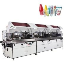 Автоматический шелкотрафаретный принтер для косметических бутылок