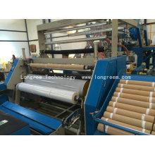 Extrudeuse en plastique de film étirable de 500-1500mm, chaîne de production de film de bout droit de LDPE LLDPE