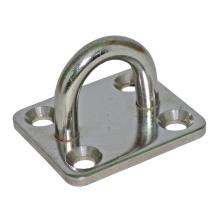 Marine Hardware Anel inoxidável industrial com placa de ancoragem de orifício de pia