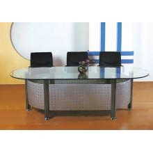 Модный дизайн овальный стеклянный стол для конференц-зала