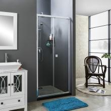 Chrome Hinge Bifold Door Shower Room With 5mmTemperedGlass