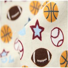 Top 10 nouveau tissu de flanelle de coton d'impression de conception pour la literie d'hiver