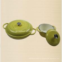 Набор посуды из 2-х эмалированной чугунной посуды