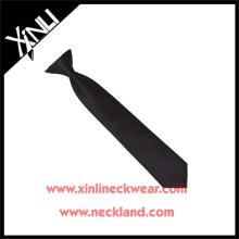 Venta al por mayor Mens Cheap Polyester Black Clip on Tie