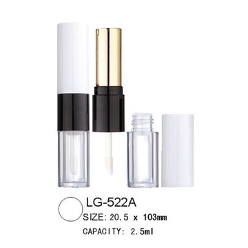 Double têtes Lip Gloss affaire LG-522A