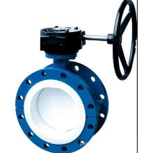 Worm Gear Wafer Lined Butterfly Valve