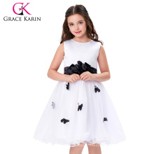 Grace Karin Princess White Children Girl Dress Sleeveless Flower Girl Dress For Wedding 12 Year Girl Without Dress CL007550-1