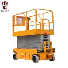 9.8m battery powered self-propelled scissor lift platform trolley