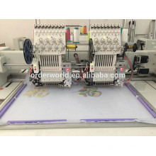 Industrial ORDER 2 Head 9/12 colors Embroidery Machine for cap,T-shirt embroidery --TOP Wisdom