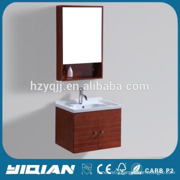 China Brown Wood Bathroom Vanity Wall Mounted Oak Bathroom Sink Vanity