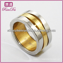 cheap wholesale ring ,high polished stainless steel ring ,18k gold ring for men